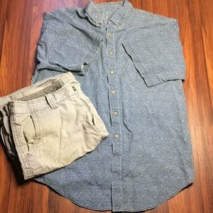 Other - Men's Patterned Button Up E1